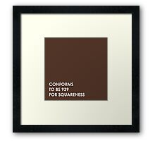 Brown Square  Framed Print