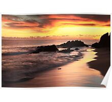 Sunset Seascape St. Thomas  Poster