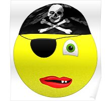 Smiley Pirate Poster