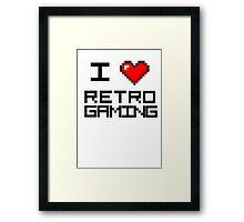 I <3 Retro Gaming Framed Print