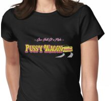 Pussy Wagon alternate Blk Womens Fitted T-Shirt