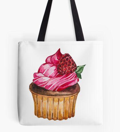 Watercolor Cupcake Tote Bag