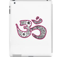 om symbol- pink iPad Case/Skin