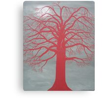 At the Red Tree Canvas Print