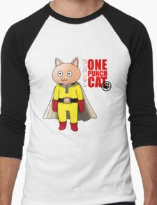 One Punch-Cat Men's Baseball ¾ T-Shirt