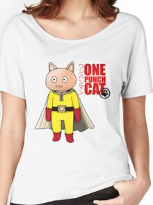 One Punch-Cat Women's Relaxed Fit T-Shirt