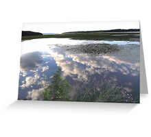 Summer Evening On the Hudson Greeting Card