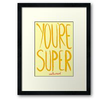Love Me, Love Me Not: You're Super...Awkward Framed Print