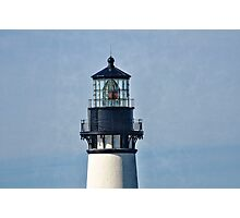 Newport Oregon Yaquina Lighthouse - Charge Of The Light Photographic Print