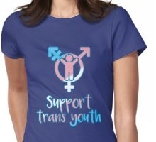Support Trans Youth Womens Fitted T-Shirt