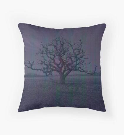 Lonely Dark Tree Throw Pillow