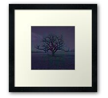 Lonely Dark Tree Framed Print