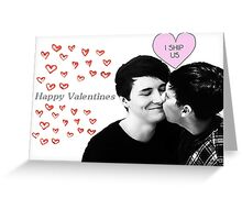Dan and Phil Valentines card <3 Greeting Card