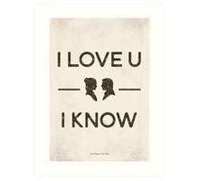Star Wars - I Love You, I Know (Black) Art Print