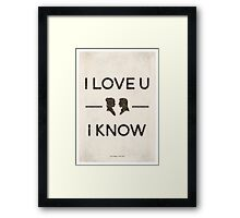 Star Wars - I Love You, I Know (Black) Framed Print