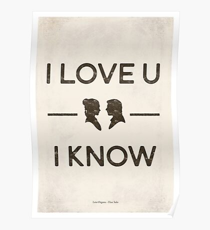 Star Wars - I Love You, I Know (Black) Poster