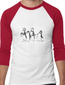 Penguins From Mary Poppins Sketch Men's Baseball ¾ T-Shirt