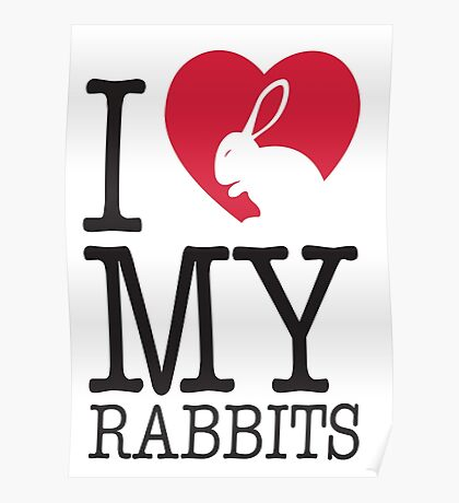 I love my rabbits Poster
