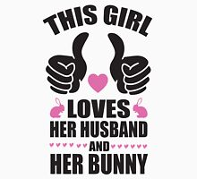 This girl loves her husband and her bunny Women's Fitted Scoop T-Shirt
