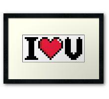 I Love U Video Game Heart Framed Print