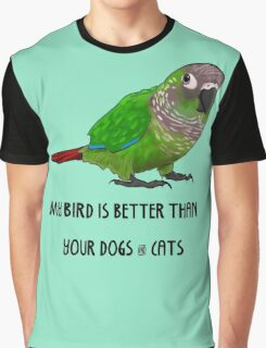 Better Bird - Green Cheek Conure Graphic T-Shirt