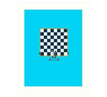 Character Building - Chessboarder Art Print