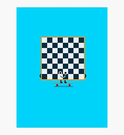 Character Building - Chessboarder Photographic Print