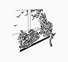 Kluane & Kajika - Abstract, Tribal Kittens Cat Art Print Unisex T-Shirt