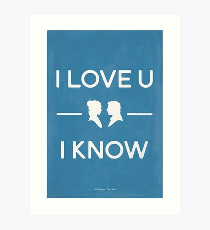 Star Wars - I Love You, I Know (color) Art Print