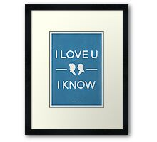 Star Wars - I Love You, I Know (color) Framed Print