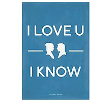 Star Wars - I Love You, I Know (color) Photographic Print