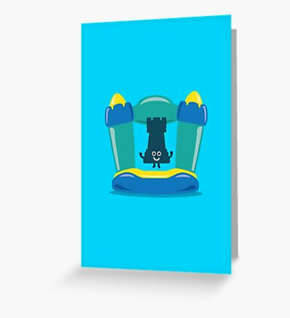 Character Building - Bouncy Castle Greeting Card