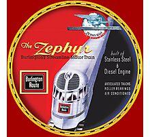 Burlington Rail Zephyr Train Photographic Print