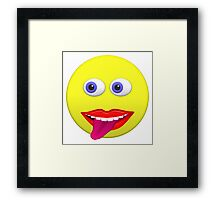 Smiley With Tongue Out Framed Print