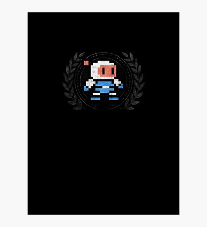 Bomberman - Sprite Badge 2 Photographic Print