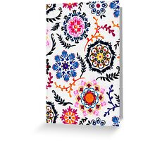 Happy Color Suzani Inspired Pattern Greeting Card