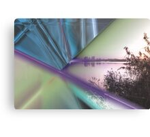 landscape lake at sunset Metal Print