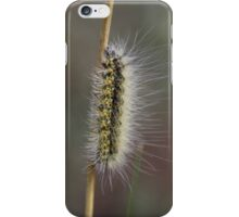 Yellow Fuzzy Caterpillar on a Stick iPhone Case/Skin