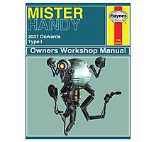 Mister Handy Haynes Manual Photographic Print