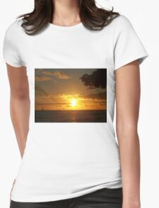 Sky Fire Womens Fitted T-Shirt