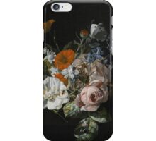 Rachel Ruysch, STILL LIFE OF FLOWERS WITH A NOSEGAY OF ROSES, MARIGOLDS, LARKSPUR, A BUMBLEBEE AND OTHER INSECTS iPhone Case/Skin