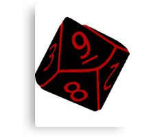 Geeky Dice Canvas Print
