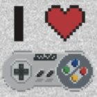 I Love Snes pixel by kebuenowilly