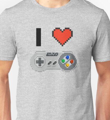 I Love Snes pixel Unisex T-Shirt
