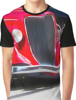 Vintage Red Car Graphic T-Shirt