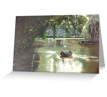 Green Landscape with Lake Greeting Card
