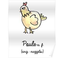 Poule / quote Poster