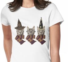 Wizard cats Womens Fitted T-Shirt