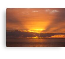The end of the day Canvas Print
