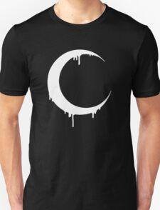 Melting Moon (black) Unisex T-Shirt